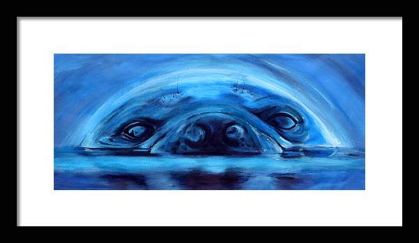 Seal Framed Print featuring the painting The Seal by Fiona Jack