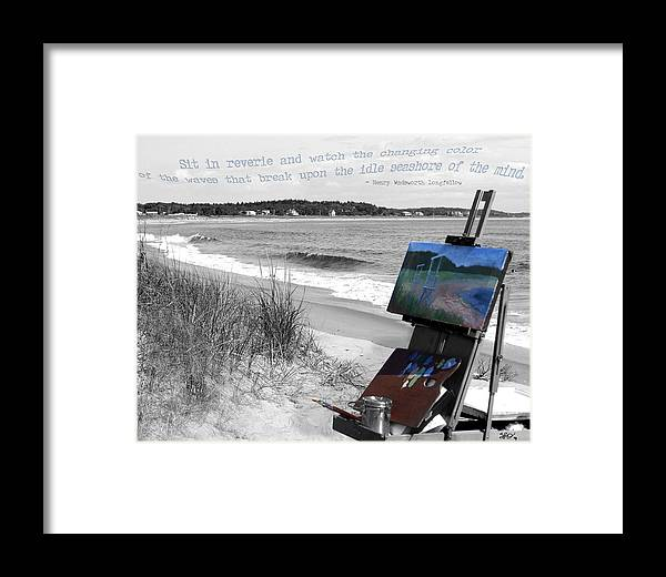 Digital Photography Framed Print featuring the photograph The Seashore by Sharon Crawford