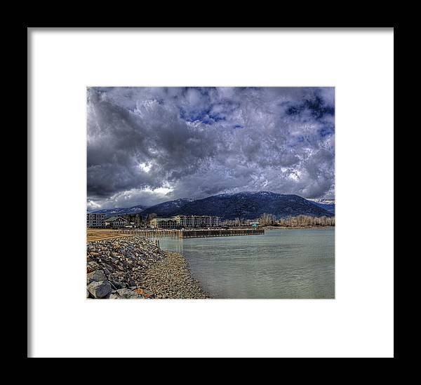 Landscape Framed Print featuring the photograph The Seasons Sandpoint by Lee Santa