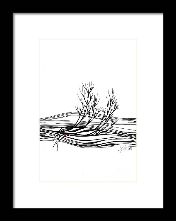 Trees Framed Print featuring the drawing The Seed by Aniko Hencz