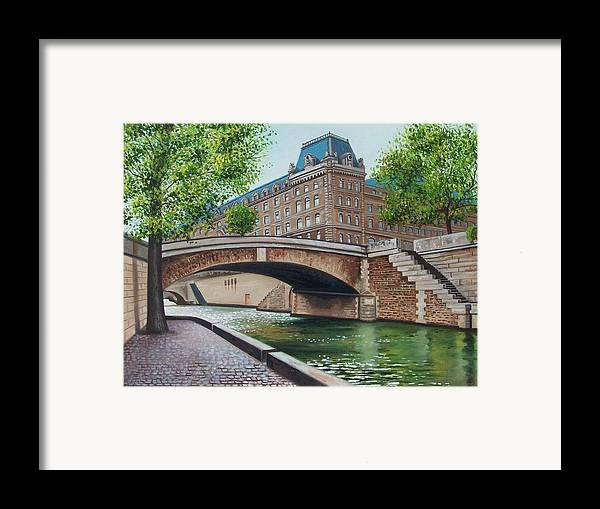 Cityscape Framed Print featuring the print The Seine by Arnold Hurley