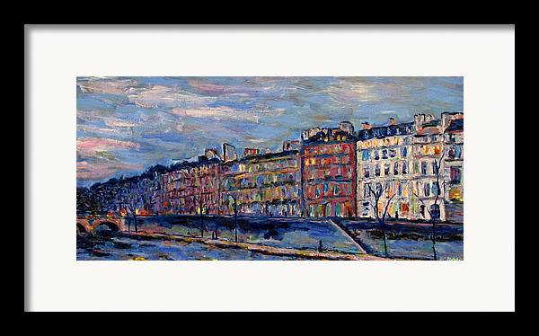 Seine Framed Print featuring the painting The Seine In Paris by Rob White
