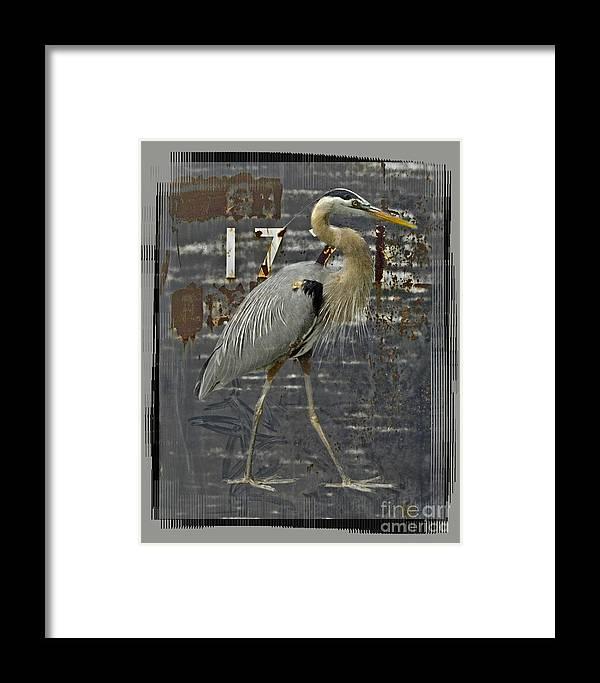 Bird Framed Print featuring the digital art The Sentinel by Chuck Brittenham