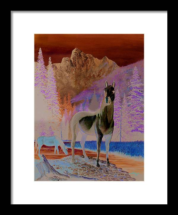 Horse Framed Print featuring the painting The Sentinel by Harold Shull