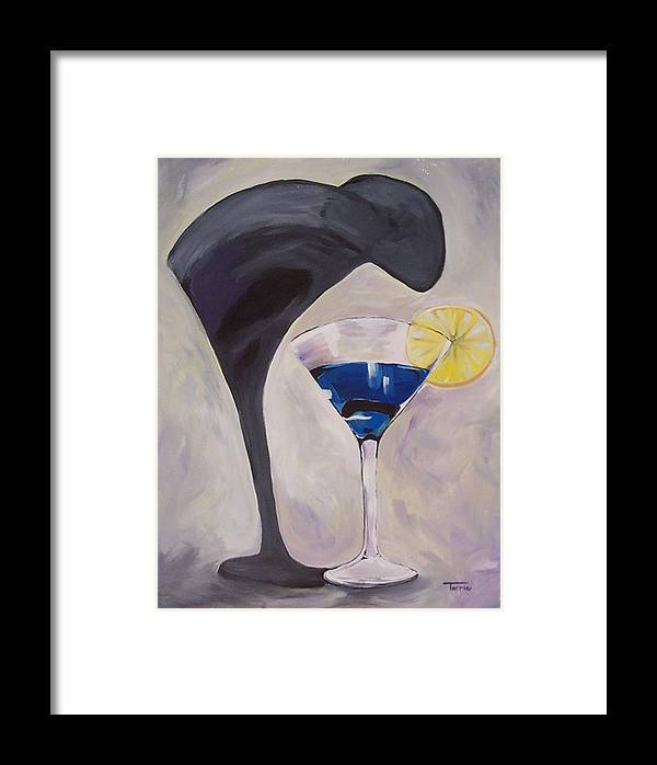 Martini Framed Print featuring the painting The Shadow - Two by Torrie Smiley
