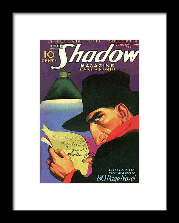 The Shadow Framed Print featuring the painting The Shadow Ghost of the Manor by Conde Nast
