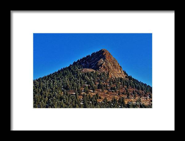Snow Framed Print featuring the photograph The Shadow Side by CL Redding