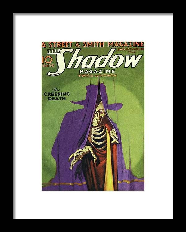 The Shadow Framed Print featuring the painting The Shadow The Creeping Death by Conde Nast