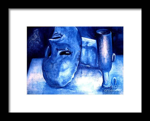 Alcoholism Framed Print featuring the painting The Shapes Of Emptiness by Patricia Velasquez de Mera