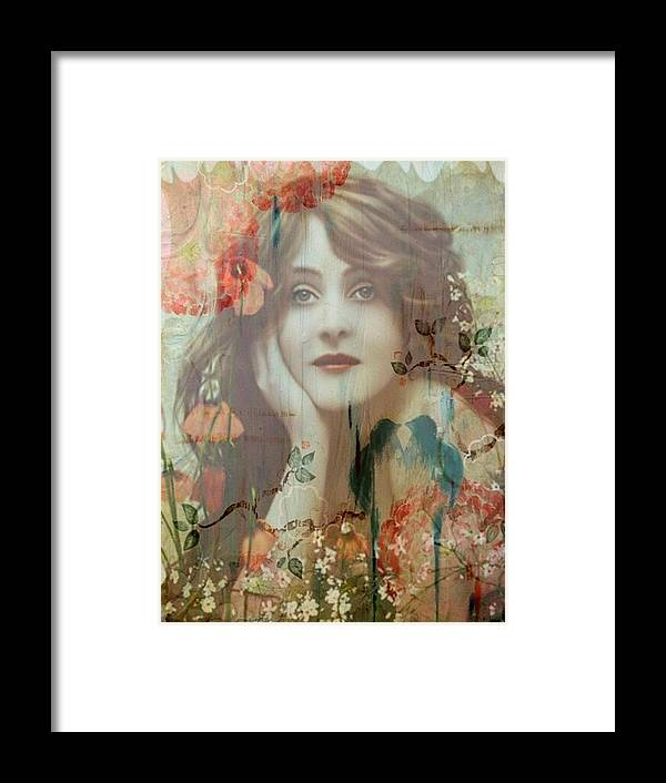 Women Framed Print featuring the painting The She by Laura Botsford