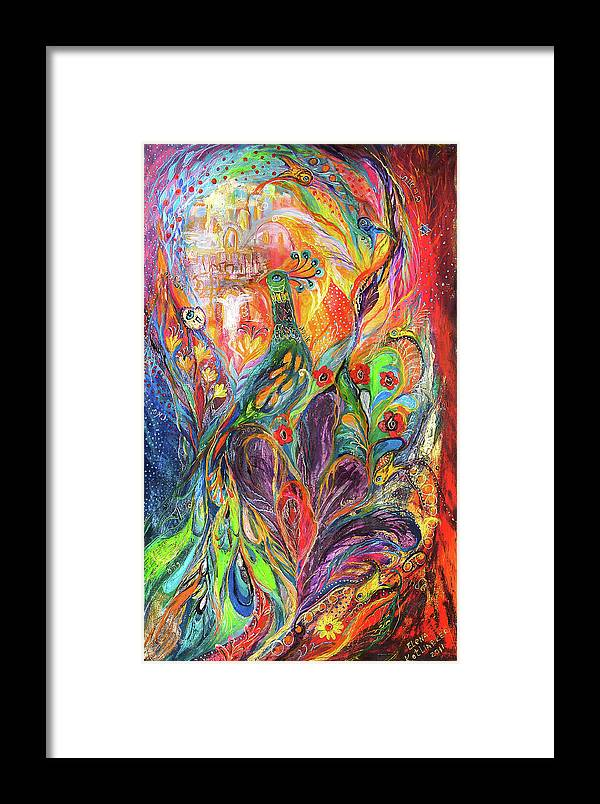 Original Framed Print featuring the painting The Shining by Elena Kotliarker