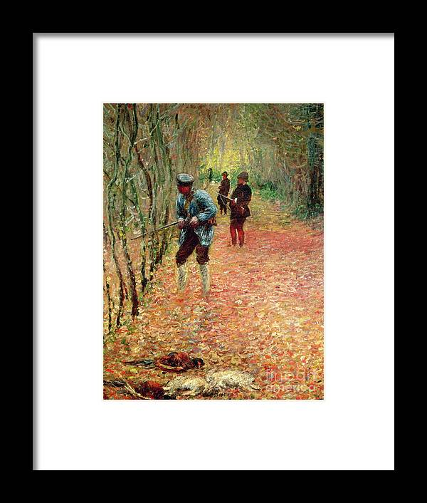The Shoot Framed Print featuring the painting The Shoot by Claude Monet