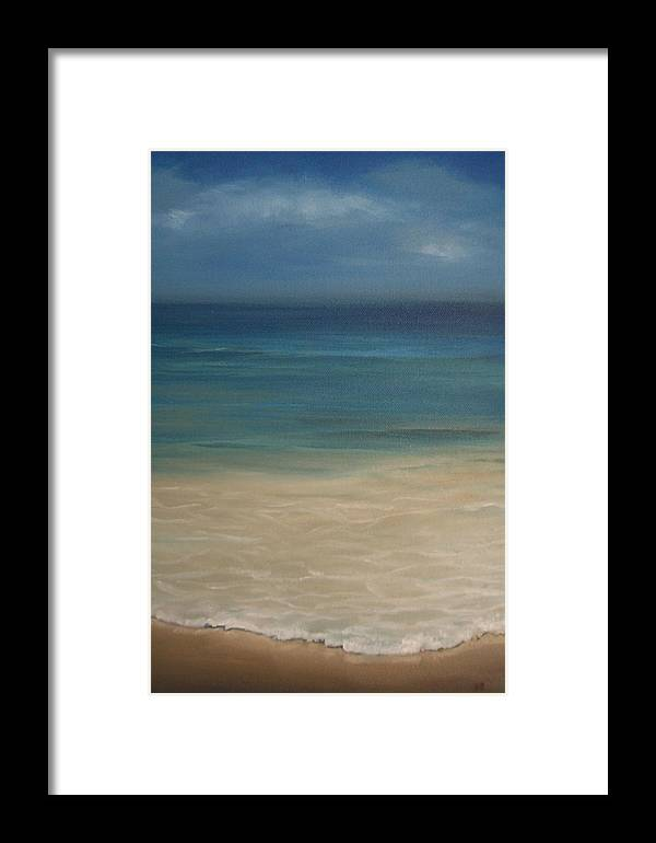 Sea Framed Print featuring the painting 'the Shore'' by Marina Harris