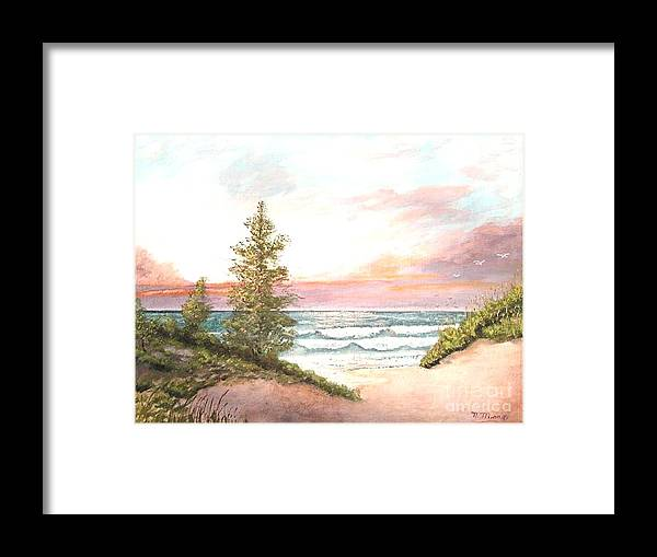 Shore Framed Print featuring the painting The Shore by Nicholas Minniti