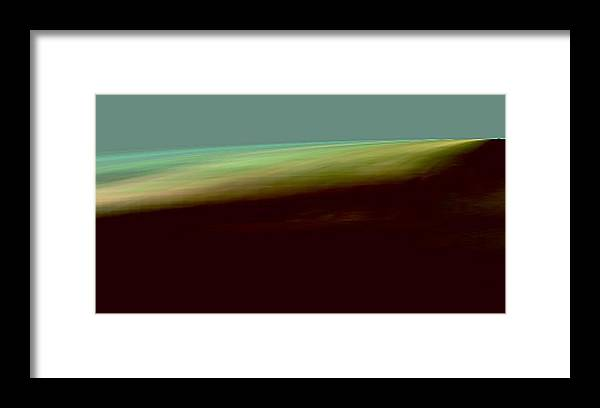 The Shore Of The Ocean Landscape Framed Print featuring the digital art The Shore Of The Ocean by Geoff Simmonds