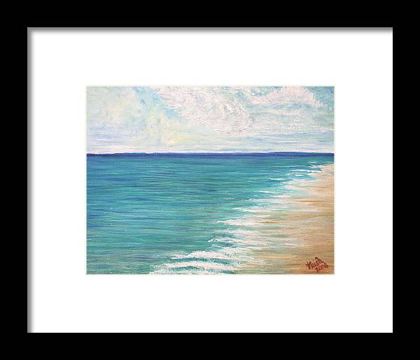 Shore Framed Print featuring the painting The Shore by Trish Jenkins