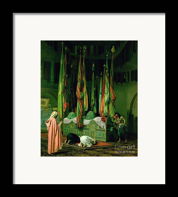 The Framed Print featuring the painting The Shrine Of Imam Hussein by Jean Leon Gerome