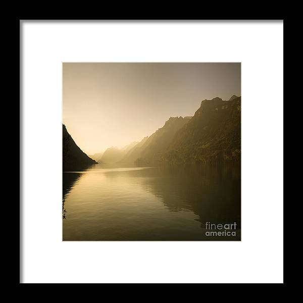 Alps Framed Print featuring the photograph The Silent Lake by Angel Ciesniarska