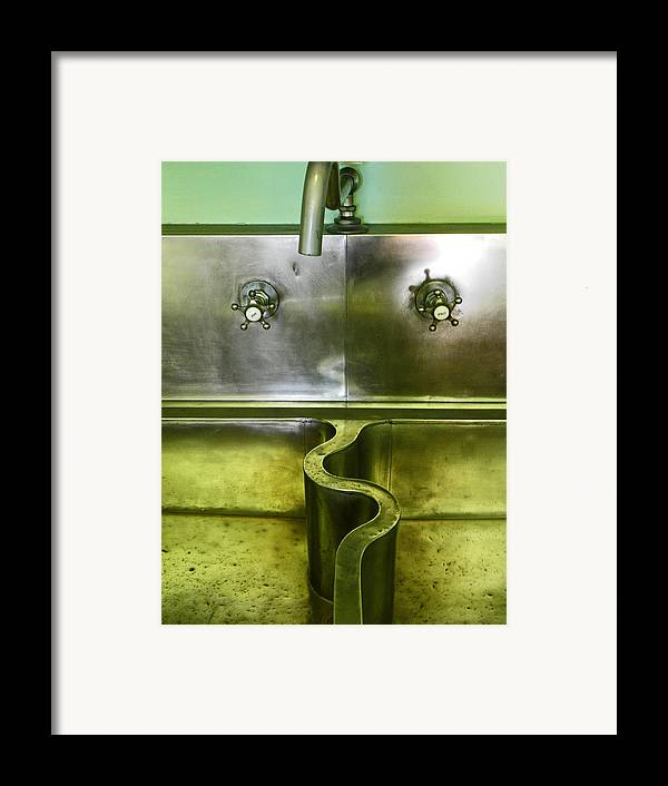 Sink Framed Print featuring the photograph The Sink by Elizabeth Hoskinson