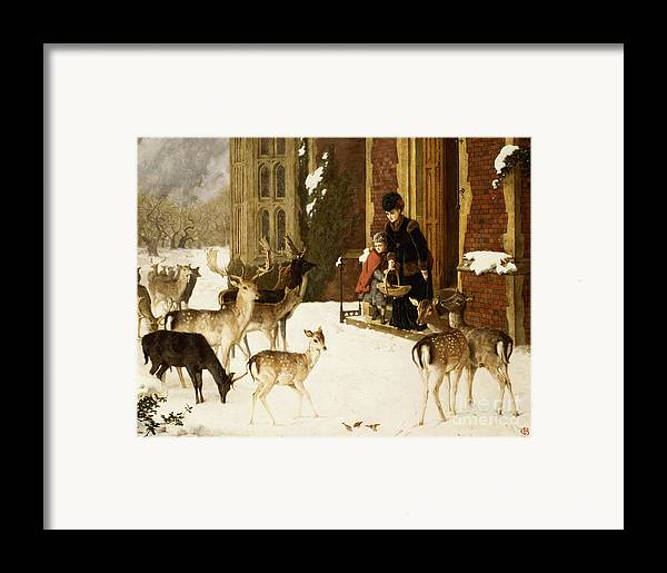 The Framed Print featuring the painting The Sisters Of Charity by Charles Burton Barber