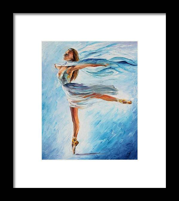 Afremov Framed Print featuring the painting The Sky Dance by Leonid Afremov