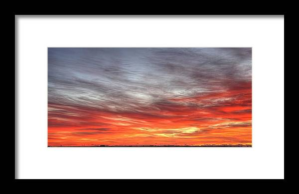 Prairie Framed Print featuring the photograph The Sky Is Smoking Hot In Widescape by James Anderson