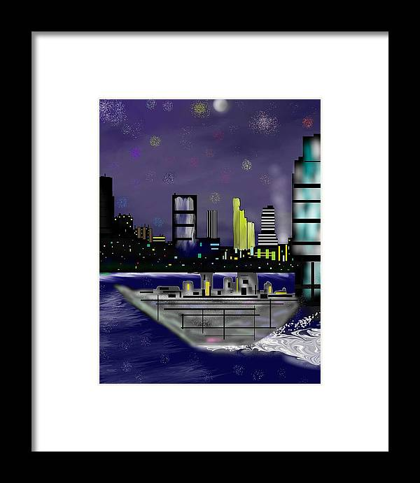 Cityscapes Framed Print featuring the digital art The Sky Is The Limit by Abel Padilla