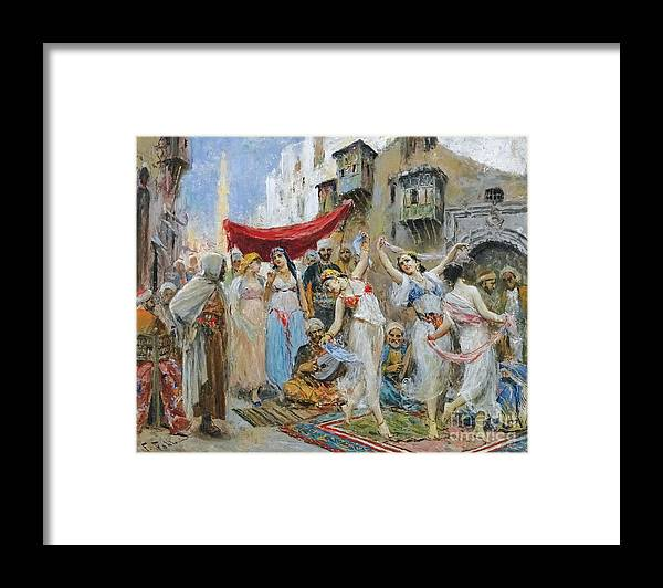 Fabio Fabbi Framed Print featuring the painting The Slave Market by Celestial Images