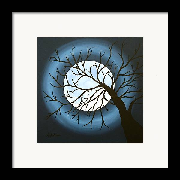 Moon Framed Print featuring the painting The Sleeping by Angela Hansen