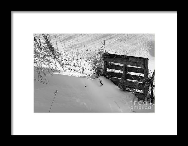 Snow Framed Print featuring the photograph The Snow Gate by Cathy Beharriell