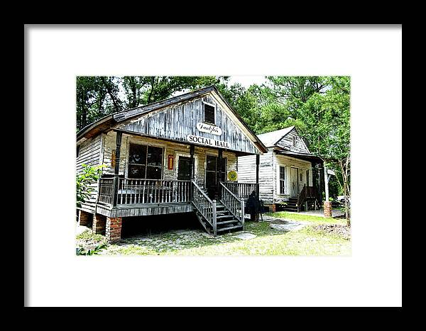 Framed Print featuring the photograph The Social Hall by Tony Culpepper