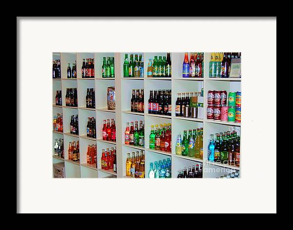 Soda Framed Print featuring the photograph The Soda Gallery by Debbi Granruth
