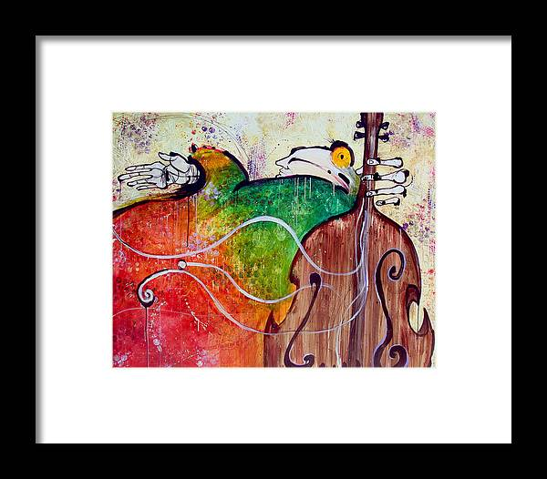 The Soloist Movie Framed Print featuring the painting The Soloist by Mark M Mellon