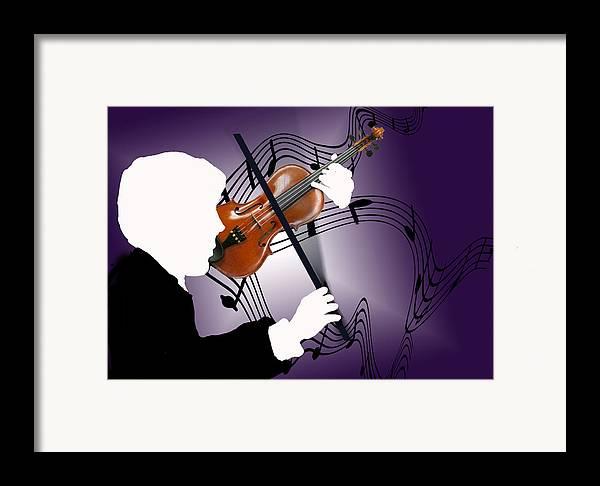 Violin Framed Print featuring the digital art The Soloist by Steve Karol