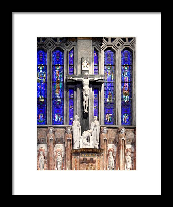 Catholic Framed Print featuring the digital art The Son of God by Phil Perkins