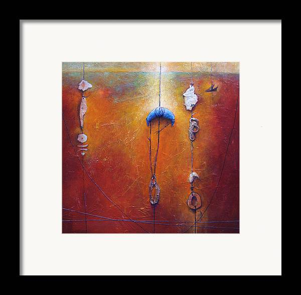 Abstract Framed Print featuring the painting The Sorting by Dale Witherow