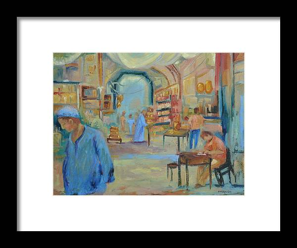 Figurative Framed Print featuring the painting The Souk by Ginger Concepcion