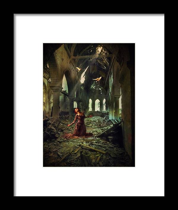 Ruins Framed Print featuring the photograph The Soul Cries Out by John Rivera