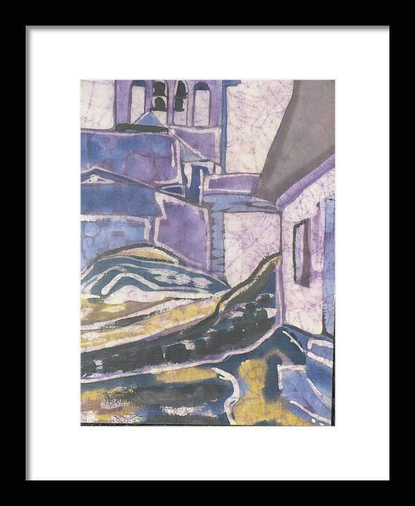 Landscape Framed Print featuring the painting The South Of France by Kathy Mitchell