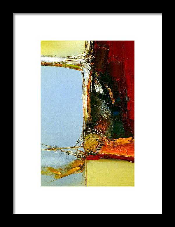 Abstract Framed Print featuring the painting The Space Between Us All by Stefan Fiedorowicz