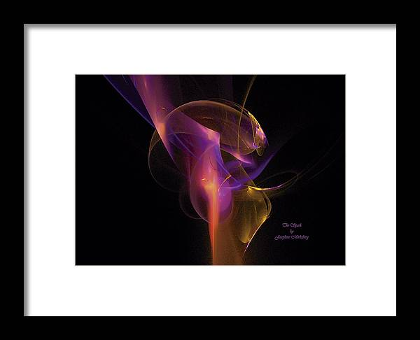 Sparks Framed Print featuring the digital art The Spark by Josephine Morkeberg