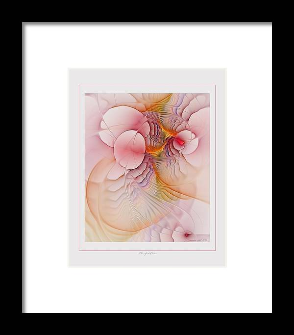 Fractal Framed Print featuring the digital art The Spell Caster by Gayle Odsather