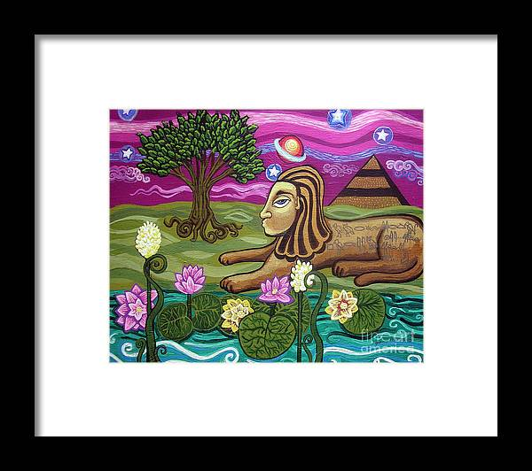 Egypt Framed Print featuring the painting The Sphinx by Genevieve Esson