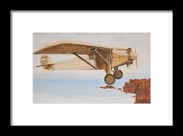 Spirit Of St. Louis Framed Print featuring the painting The Spirit Of St. Louis by Norman F Jackson