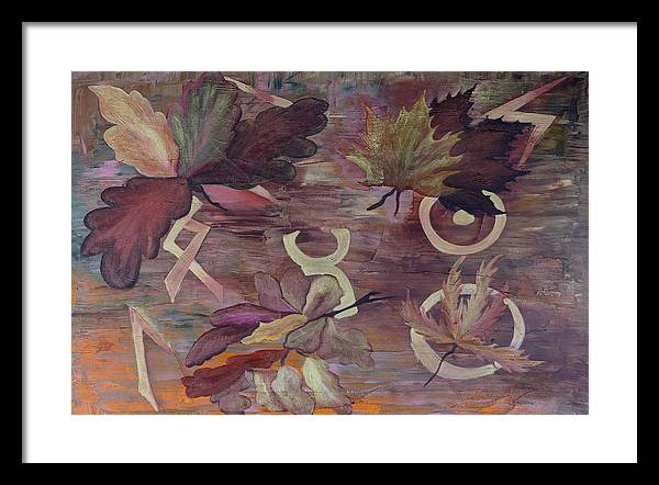 Abstract Framed Print featuring the painting The Spiritual Connection by Ara Elena