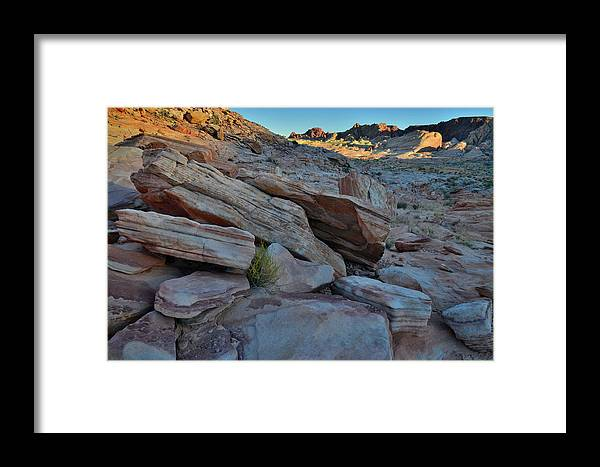 Valley Of Fire State Park Framed Print featuring the photograph The Spotlight Fades At Valley Of Fire by Ray Mathis