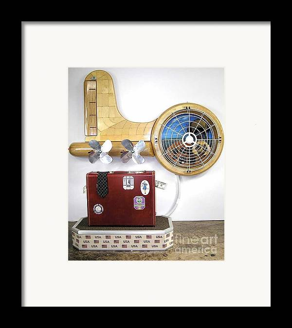 Czappa Framed Print featuring the sculpture The Spruce Goose II #87 by Bill Czappa