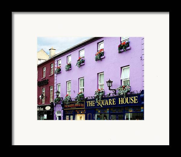 Irish Framed Print featuring the photograph The Square House Athlone Ireland by Teresa Mucha