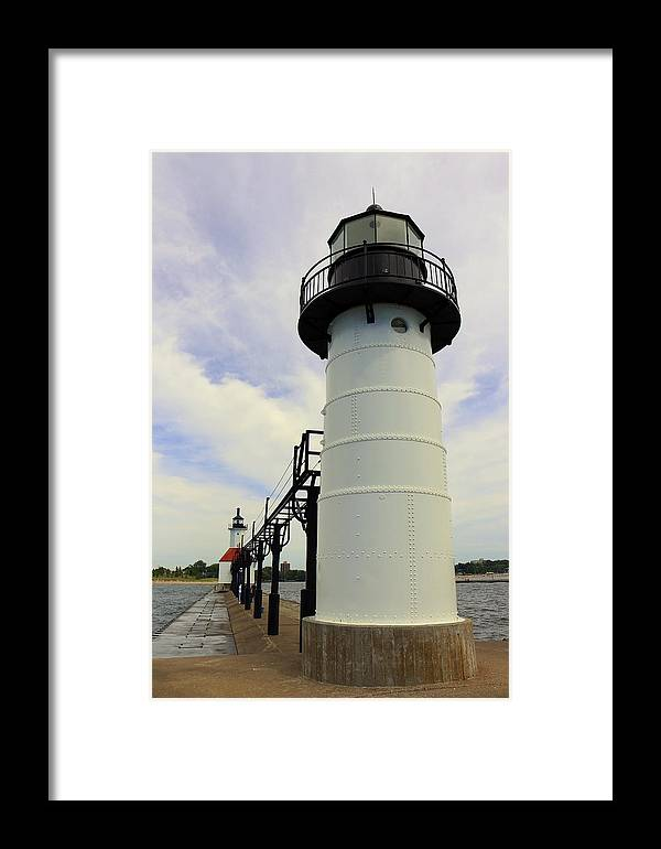 St. Joseph Framed Print featuring the photograph The St. Joseph Lighthouses In Michigan by Anita Hiltz