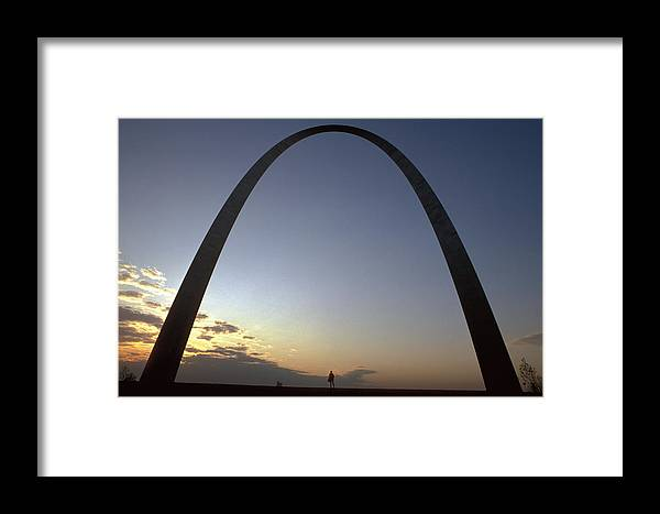 Landmark Framed Print featuring the photograph The St. Louis Arch by Carl Purcell
